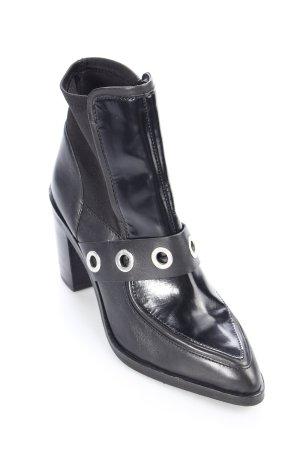 Asos Schlüpf-Stiefeletten schwarz Materialmix-Look