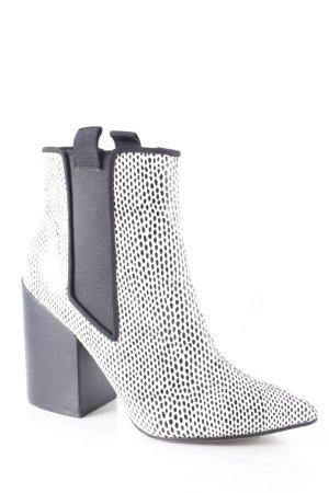 Asos Schlüpf-Stiefeletten schwarz-weiß Punktemuster Street-Fashion-Look