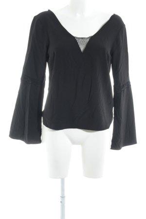 Asos Schlupf-Bluse schwarz Elegant