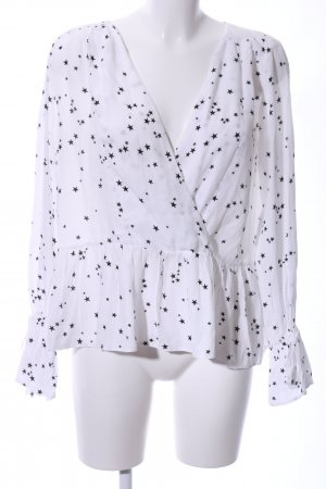 Asos Slip-over Blouse white-black star pattern urban style