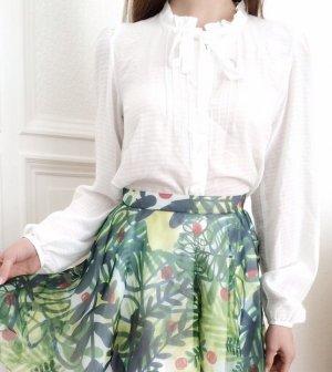 Asos Schluppenbluse Bluse weiß 100% Viskose fein elegant Vintage 34 XS