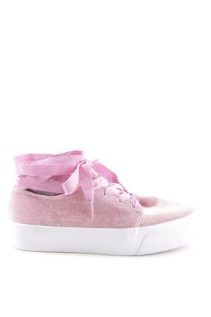 Asos Schnürschuhe pink Casual-Look