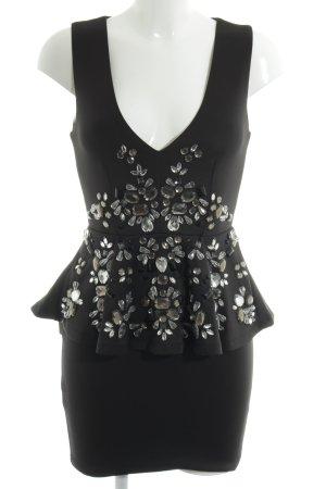 Asos Schößchenkleid schwarz Elegant