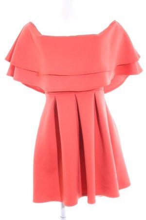 Asos schulterfreies Kleid rot Elegant