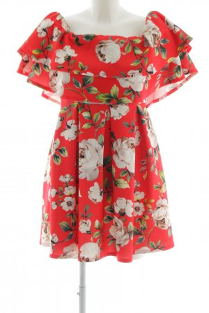Asos Off the shoulder jurk volledige print casual uitstraling