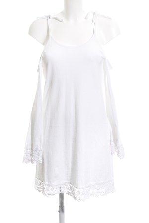 Asos schulterfreies Kleid weiß Casual-Look