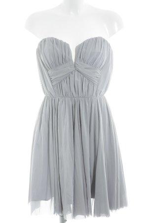 Asos Off-The-Shoulder Dress pale blue extravagant style
