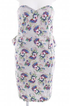 Asos Off the shoulder jurk bloemenprint feest stijl