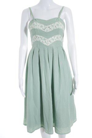 Asos schulterfreies Kleid mint-weiß Elegant