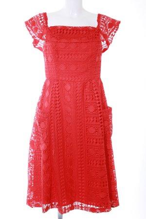 Asos Off the shoulder jurk rood Metalen elementen