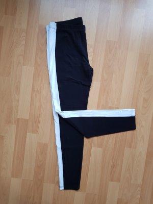 Asos Schwarze Leggings mit Seitenstreifen