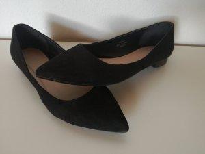 Asos schwarze spitzen Ballerinas Gr. 38,5