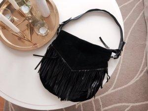 ASOS - Schwarze Tasche mit Fransen aus Echtleder