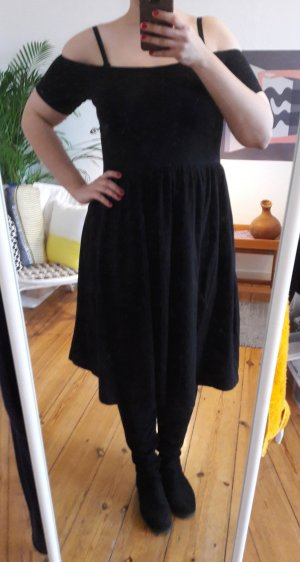 ASOS schwarzes A-Line Bardot Kleid