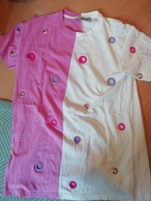 Asos Shirt 38 T-Shirt Studs Nieten Loch Design Cutouts