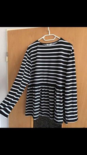 Asos Shirt schwarz weiß gestreift gr. S Blogger