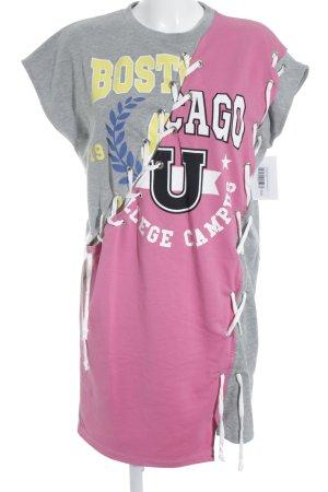 Asos Shirtkleid Schriftzug gedruckt College-Look