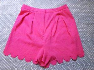 Asos Shorts Muschelsaum gewellt Highwaist Hotpants Pink 36