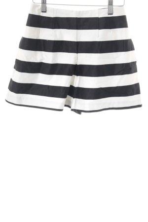 Asos Shorts schwarz-weiß Streifenmuster Elegant