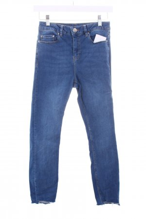 Asos Skinny Jeans hellblau Used-Optik