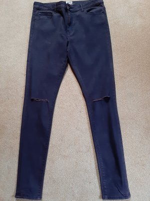 Asos Denim Skinny jeans zwart-bordeaux