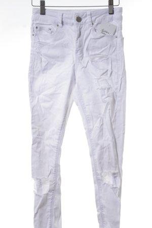 Asos Skinny Jeans weiß Destroy-Optik