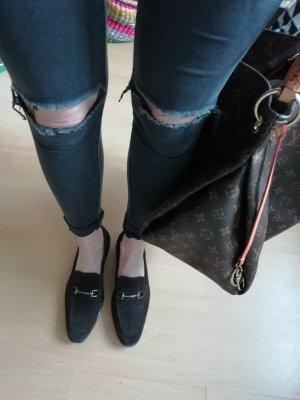Asos Zapatos formales sin cordones color plata-marrón oscuro