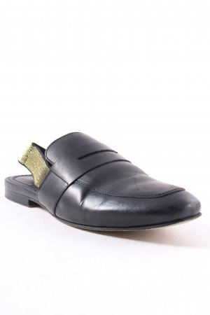 Asos Slippers black metallic look
