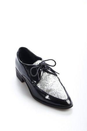 Asos Slipper schwarz-silberfarben extravaganter Stil