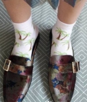 Asos Socken mit Palmen Palms Pastell Blogger Statement Set Flamingo