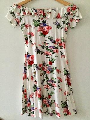 Asos Off-The-Shoulder Dress multicolored cotton