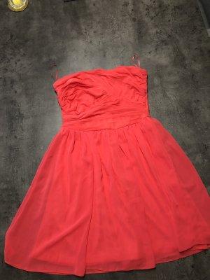 Asos Petite Vestido strapless naranja neón