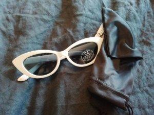 Asos Sonnenbrille Cateye Katzenform Katzenauge Retro weiß