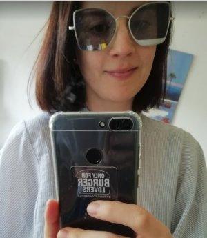 Asos Gafas de sol color plata-azul celeste