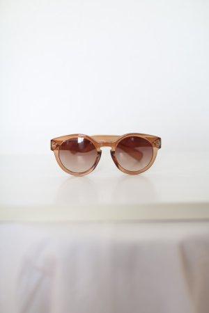 Asos Sonnenbrille rund braun nude Vintage Look wie neu