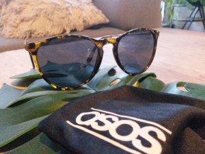 asos Sonnenbrille rund Schildpatt/braun goldene Bügel