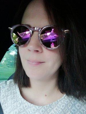 Asos Sonnenbrille verspiegelt Mirror Polarized Marble Pastell