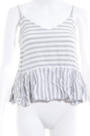 Asos Haut à fines bretelles blanc-gris foncé motif rayé style marin