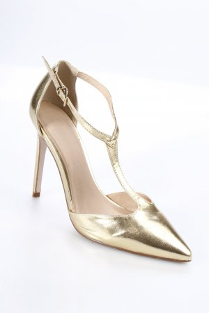 Asos Spitz-Pumps goldfarben Metallic-Optik