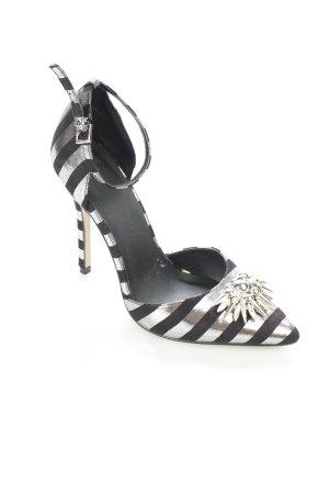 Asos Spitz-Pumps schwarz-silberfarben extravaganter Stil
