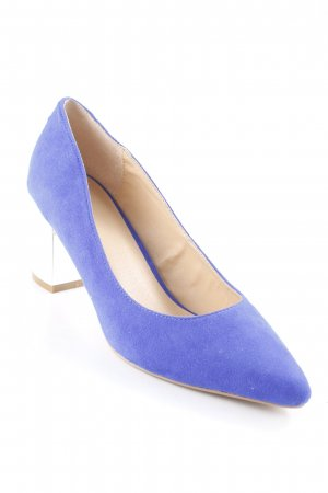 Asos Spitz-Pumps stahlblau-silberfarben extravaganter Stil