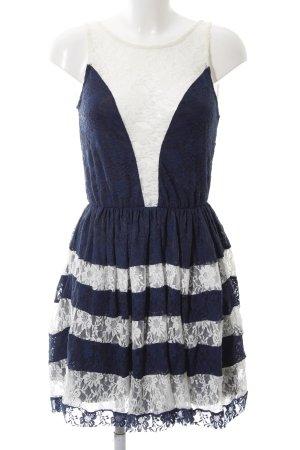 Asos Spitzenkleid blau-weiß Elegant