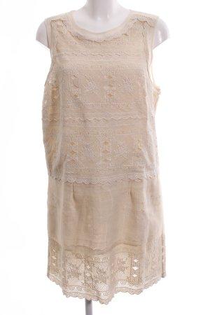 Asos Kanten jurk nude-wolwit casual uitstraling
