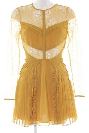 Asos Lace Dress dark yellow extravagant style
