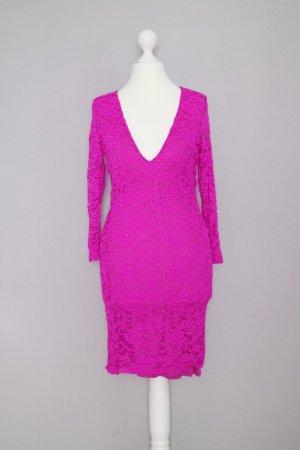 Asos Spitzenkleid Gr. 36 leuchtend neon pink