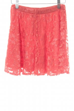 Asos Lace Skirt bright red floral pattern lace look