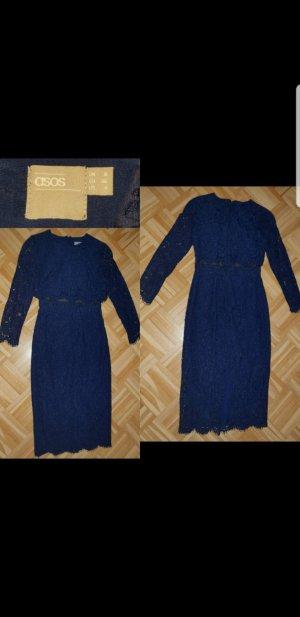 Asos Kanten jurk donkerblauw