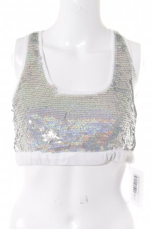 Asos Sports Tank white-silver-colored glittery