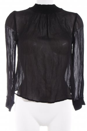 Asos Stand-Up Collar Blouse black business style