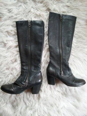 Asos Laarzen met hak zwart bruin